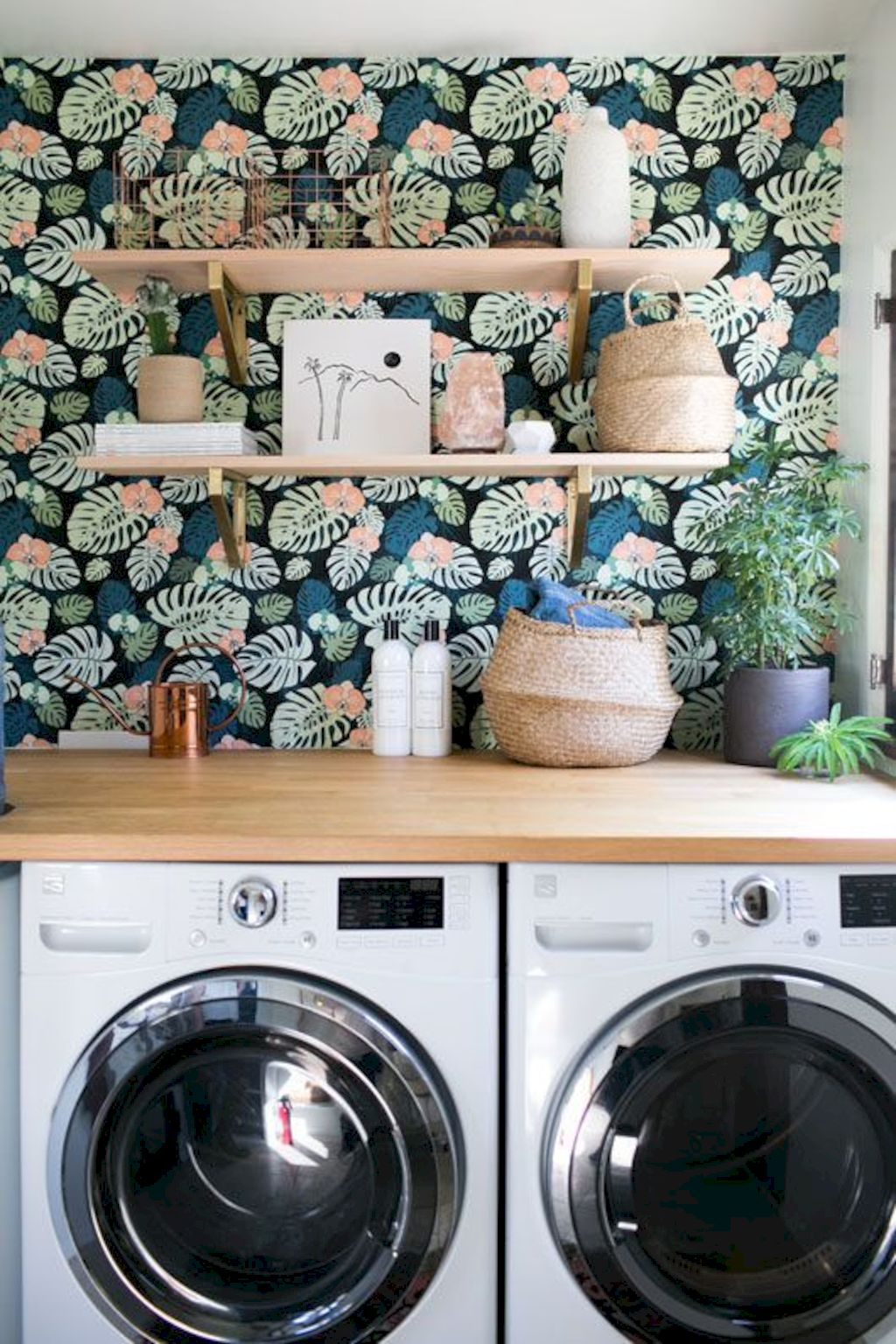 Making a simple laundry room update to maximize its function and look together with cheap accessories and simple layout designs Image 11