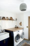 Making a simple laundry room update to maximize its function and look together with cheap accessories and simple layout designs Image 12