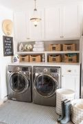 Making a simple laundry room update to maximize its function and look together with cheap accessories and simple layout designs Image 22