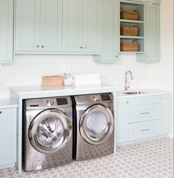 Making a simple laundry room update to maximize its function and look together with cheap accessories and simple layout designs Image 26
