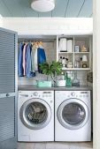 Making a simple laundry room update to maximize its function and look together with cheap accessories and simple layout designs Image 29