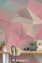 Refreshing and cheerful geometric walls design ideas best for kids and nursery rooms improving playful color scheme Image 29