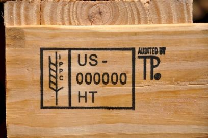 Safe pallet for home use with HT stamp