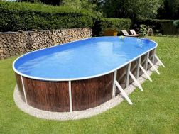 Simple pool designs built above ground designed with cheap materials for simple outdoor relieves Image 8