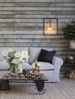 Smart interior upgrade showing wood pallets wall accent that looks amazing in a modern home which includes traditional and rustic element mixing Image 31