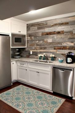 Smart interior upgrade showing wood pallets wall accent that looks amazing in a modern home which includes traditional and rustic element mixing Image 43