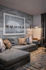 Smart interior upgrade showing wood pallets wall accent that looks amazing in a modern home which includes traditional and rustic element mixing Image 44
