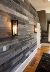 Smart interior upgrade showing wood pallets wall accent that looks amazing in a modern home which includes traditional and rustic element mixing Image 47