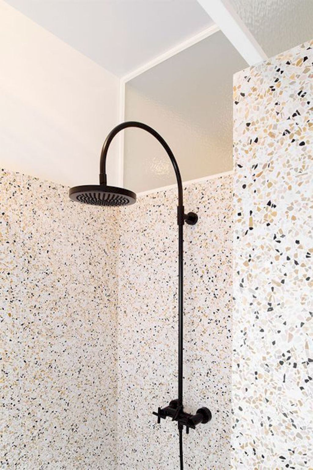 Terrazzo tiles used in bathroom renovation showing classical comeback that bring an artistic retro statement in your home Image 46