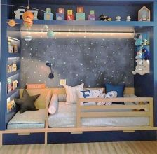 Warm and lovely kids bedroom decoration using a soft color combination showing a neutral scheme that looks beautiful and adorable Image 24