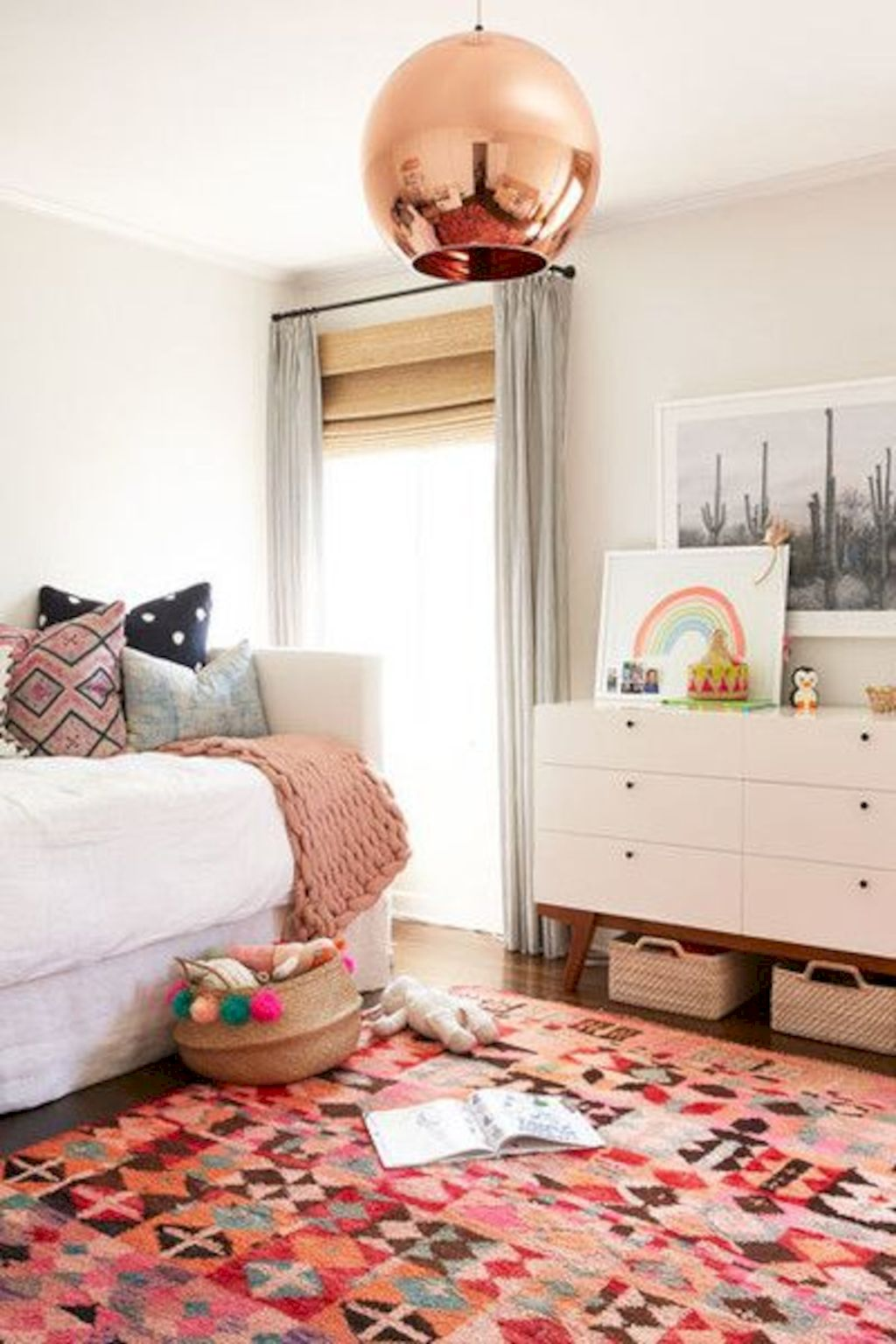 Warm and lovely kids bedroom decoration using a soft color combination showing a neutral scheme that looks beautiful and adorable Image 27