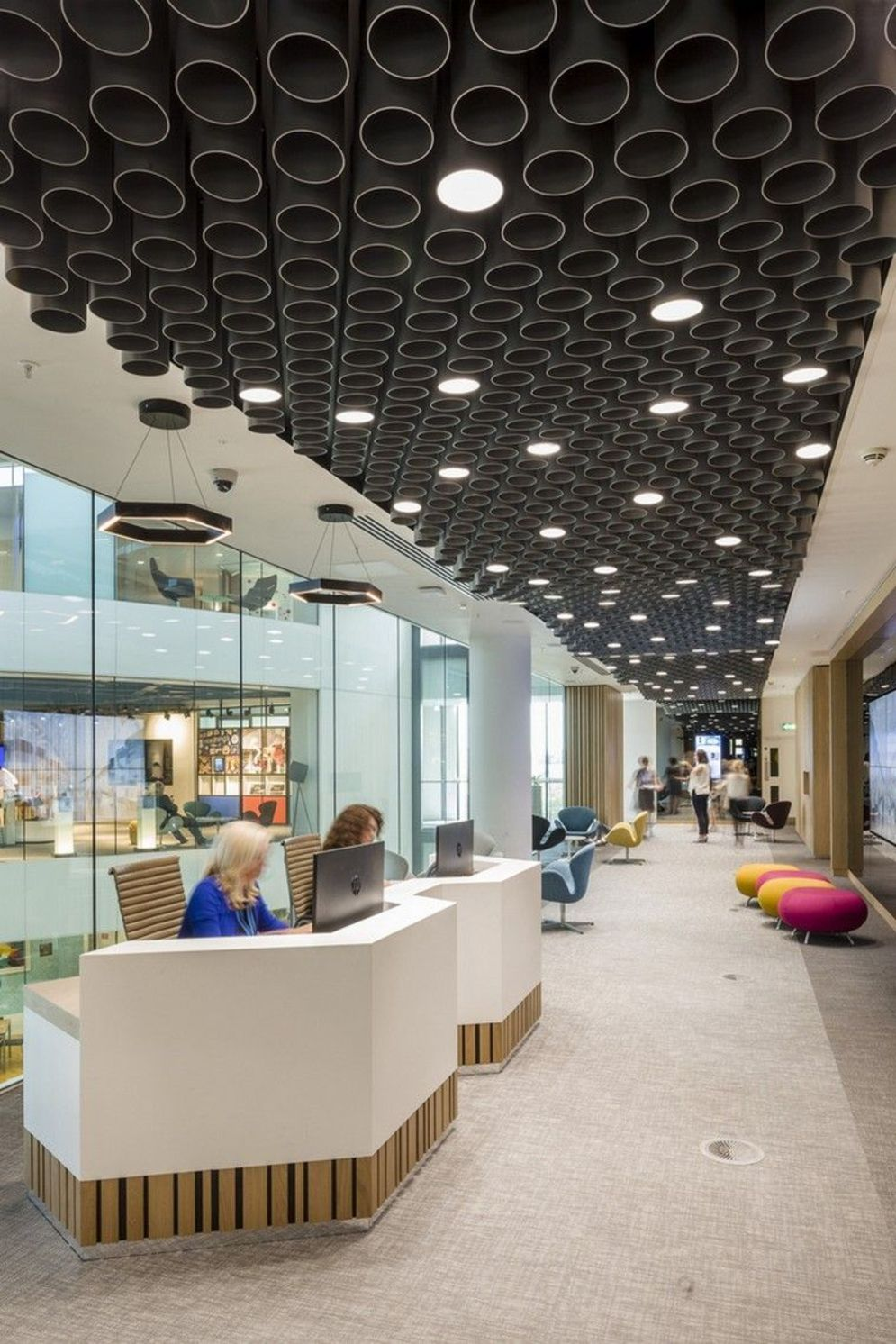 Amazing office interior ideas with unique and unconventional false ceiling designs Image 17