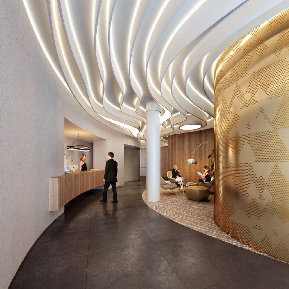 Amazing office interior ideas with unique and unconventional false ceiling designs Image 21