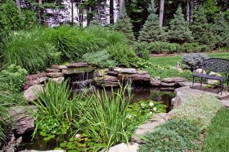 Amazing waterfall ideas giving the best look and panoramic schemes for your landscaping style Image 9