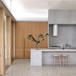 Artsy terrazzo flooring bringing back the classy vintage accent combined in modern simple interior style Image 26