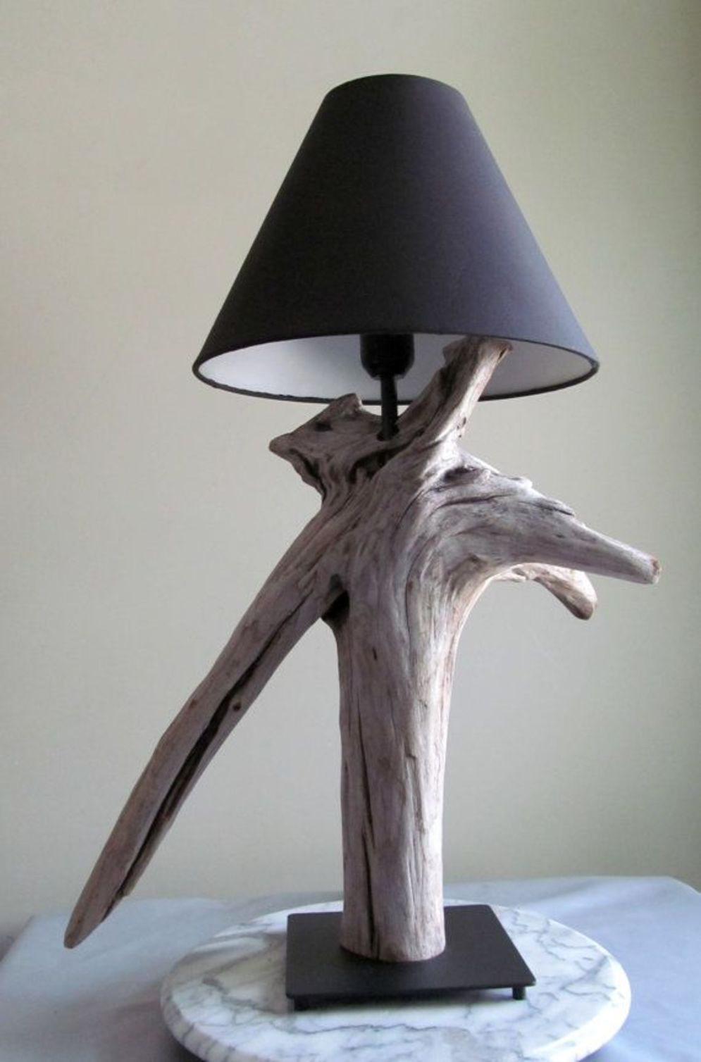 Awesome driftwood lamp stands giving authentic decoration in natural art style Image 10