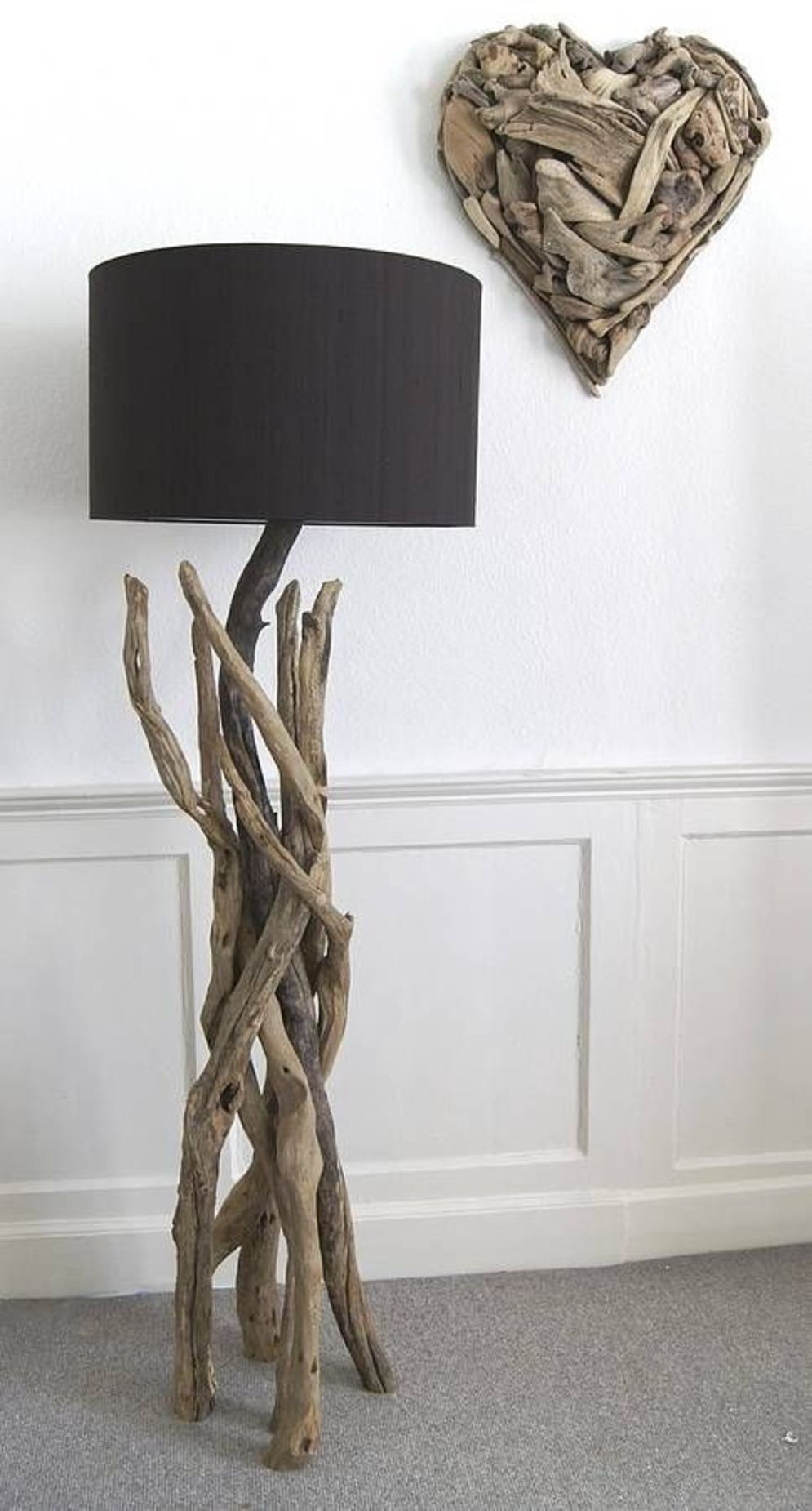 Awesome driftwood lamp stands giving authentic decoration in natural art style Image 6