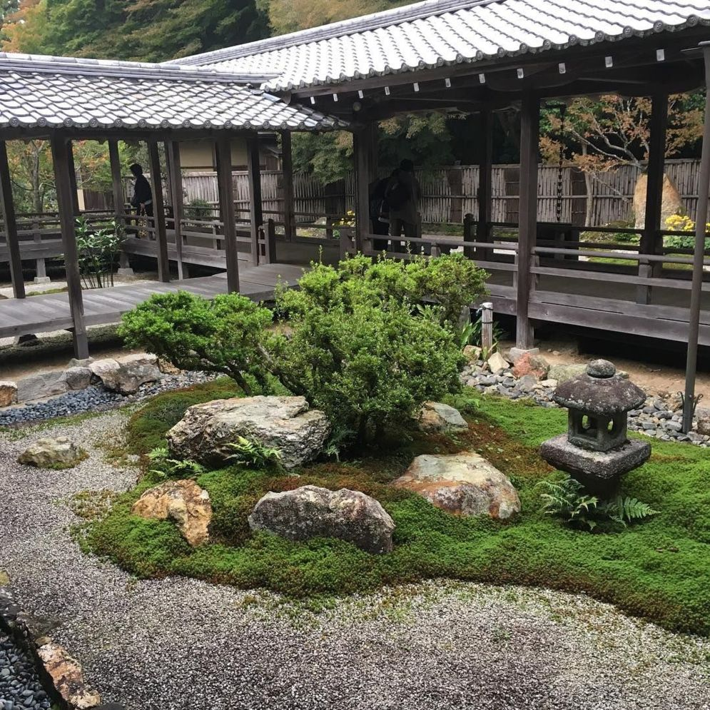 Beautiful Zen garden style with peaceful arrangements creating peaceful and harmonies display that will calm our mind Image 1