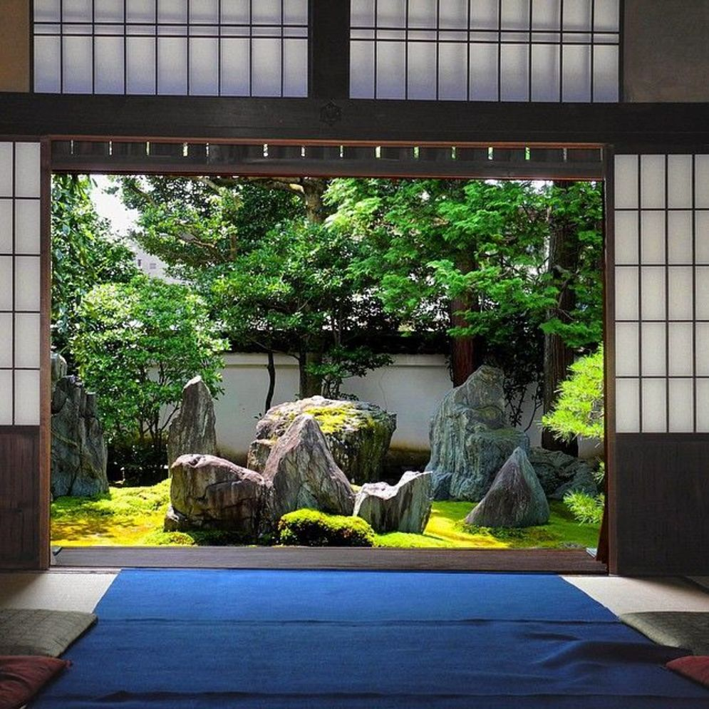 Beautiful Zen garden style with peaceful arrangements creating peaceful and harmonies display that will calm our mind Image 14
