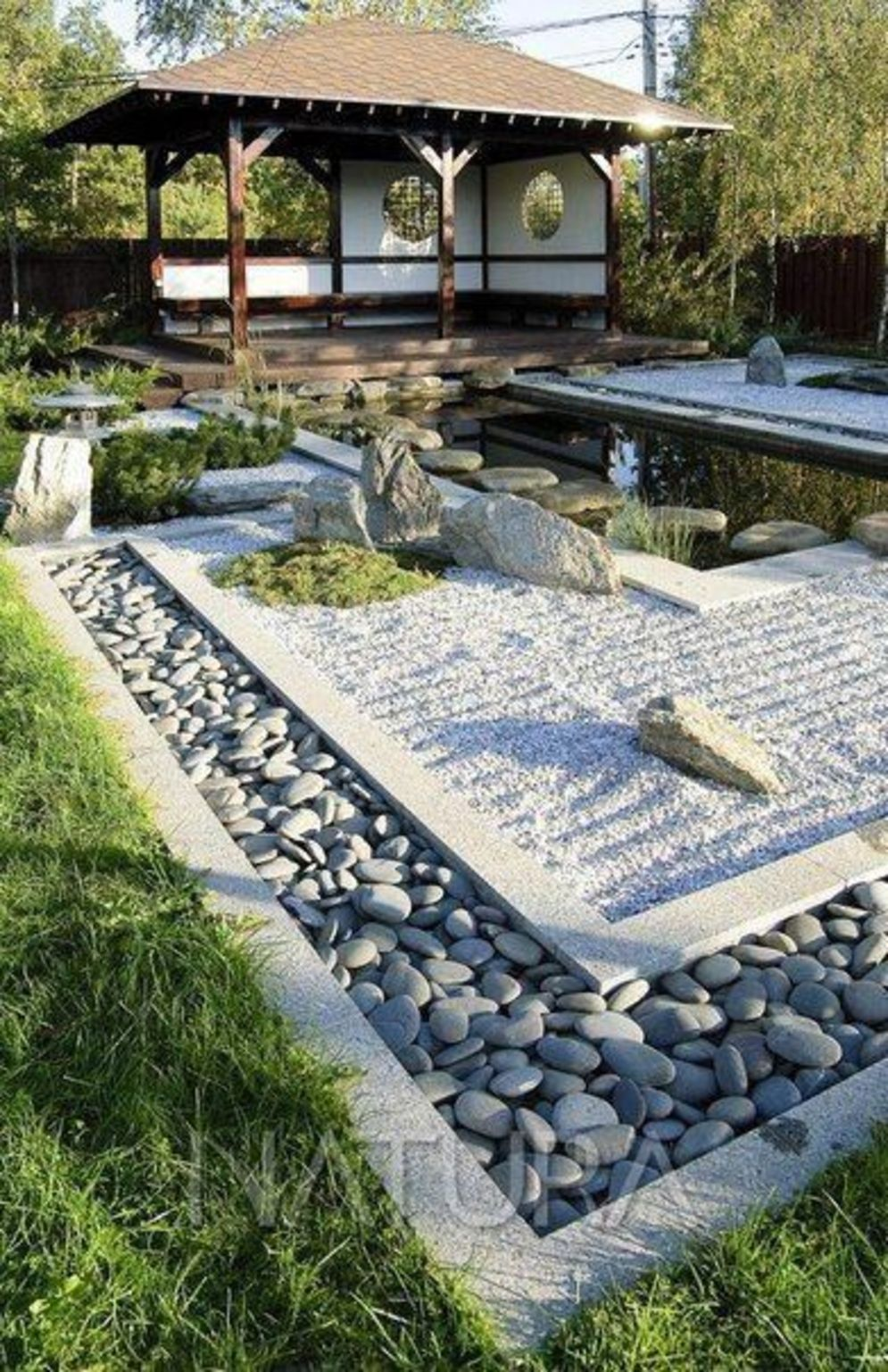 Beautiful Zen garden style with peaceful arrangements creating peaceful and harmonies display that will calm our mind Image 17