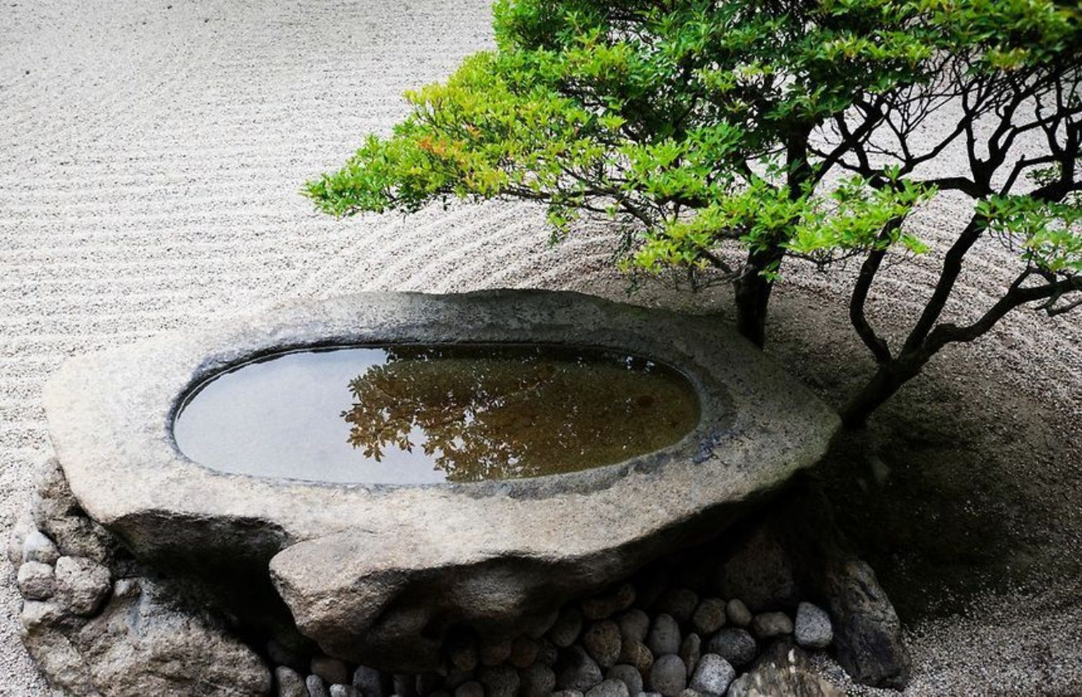 Beautiful Zen garden style with peaceful arrangements creating peaceful and harmonies display that will calm our mind Image 5