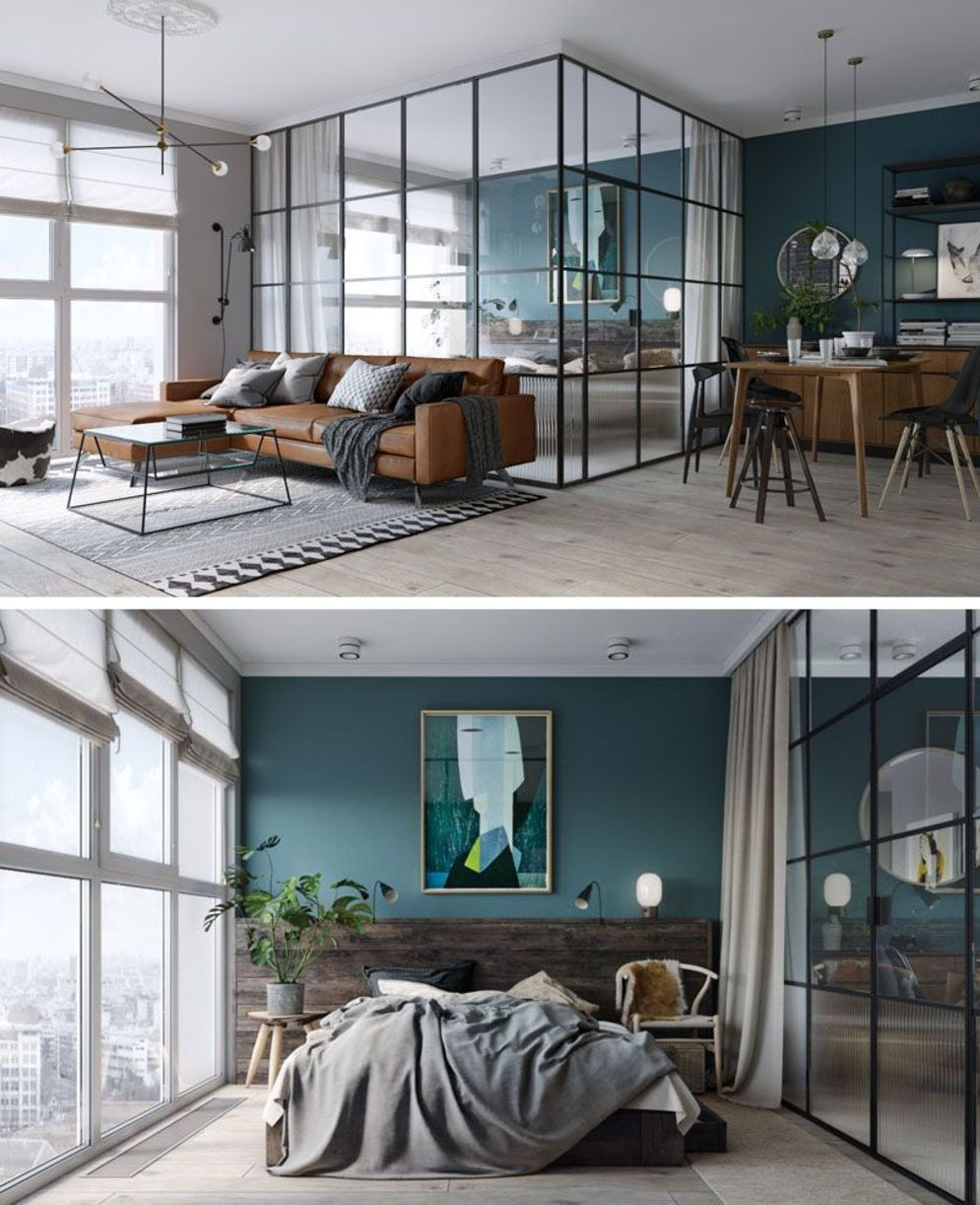 Bright home concepts with modern style of glass partition giving vast interior sense of space Image 17