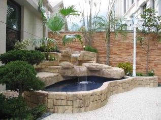 Brilliant landscape decoration of natural small fish ponds that you can make yourself Image 8