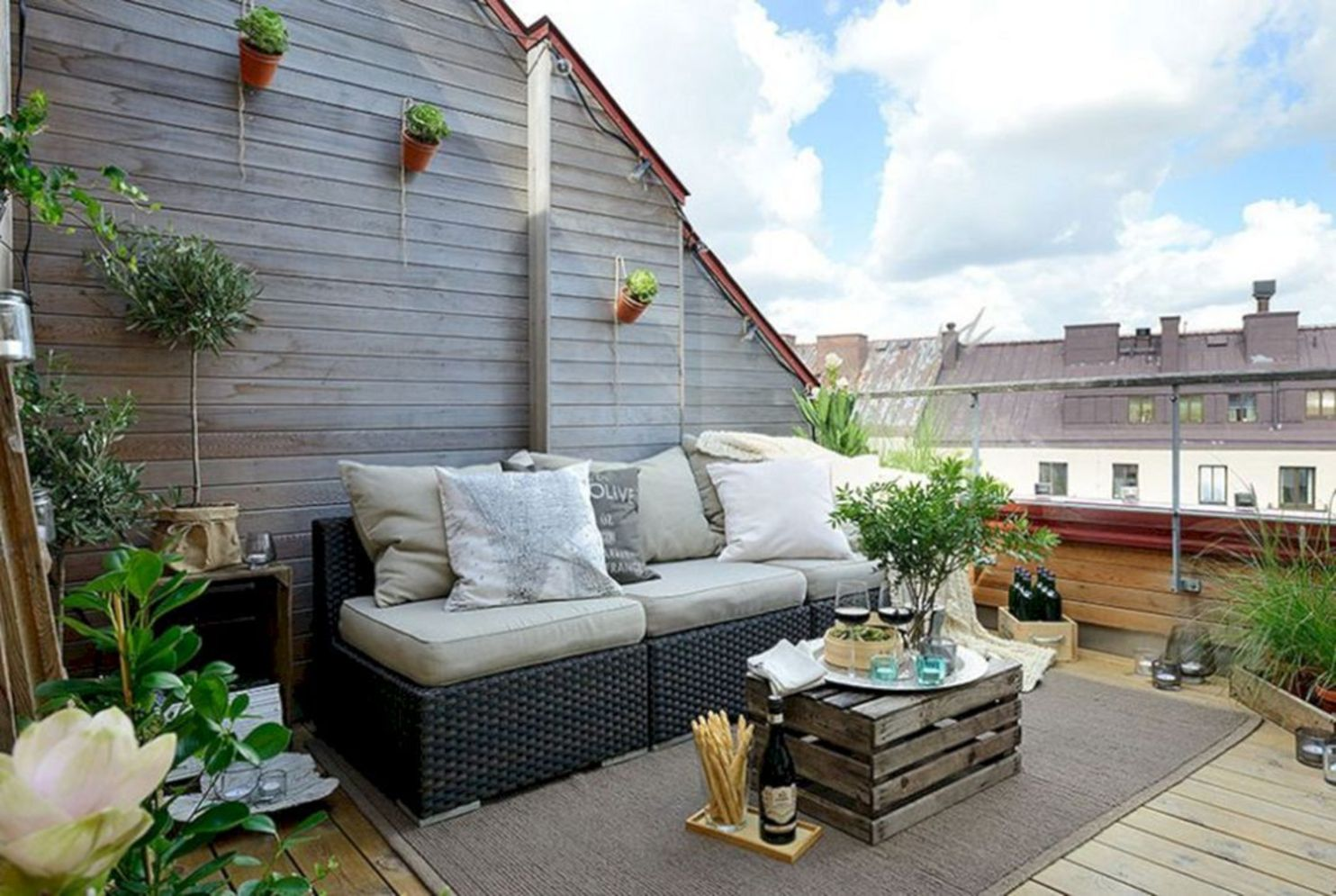 Clever apartment balcony conversion maximizing small space into functional living area Image 37