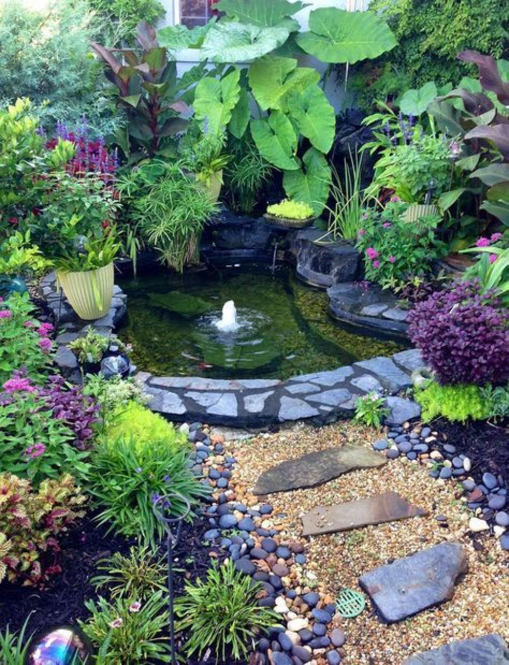 Clever exterior update showing different fresh fish pond designs Image 19