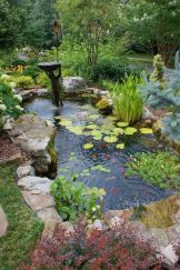 Clever exterior update showing different fresh fish pond designs Image 20