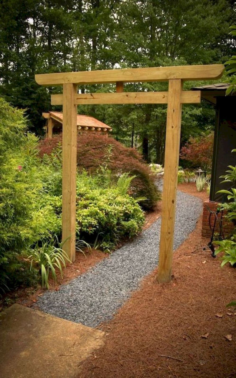 Green outdoor ideas with calming vibes from Zen garden style showing harmonious and balanced various natural elements Image 27