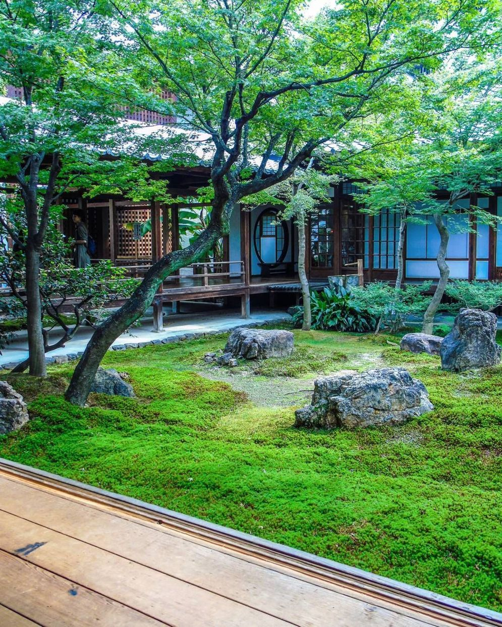 Green outdoor ideas with calming vibes from Zen garden style showing harmonious and balanced various natural elements Image 42