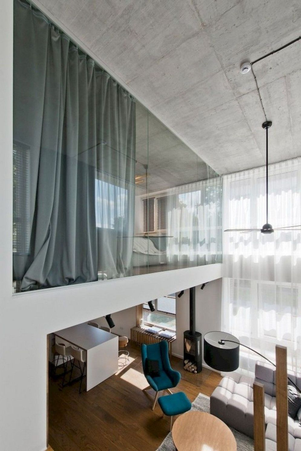 Limitless interior schemes with clever glass partition enlarging wide interior vibes Image 32