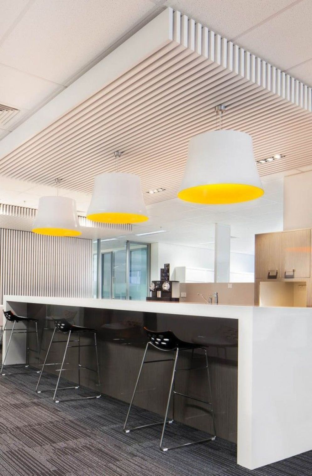Modern office designs showing artistic false ceiling decoration Image 29