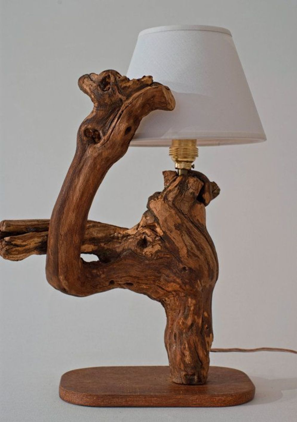 Stunning natural material for Driftwood lamp decoration creating an incredible ambiance Image 17