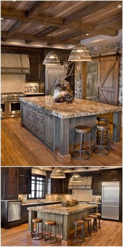 Warm and friendly cabin kitchen displaying rustic interior styles providing ideal space for a perfect retreat Image 27