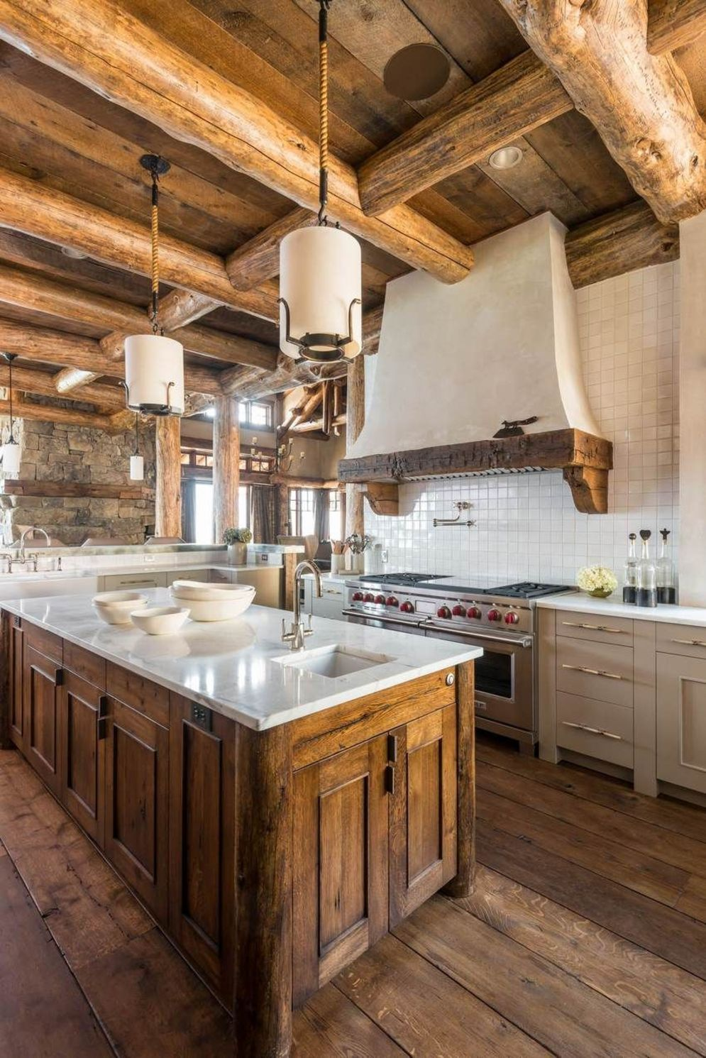 Warm and friendly cabin kitchen displaying rustic interior styles providing ideal space for a perfect retreat Image 34