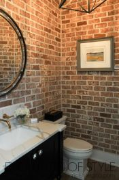 Wonderful interior statement brick wall improving interior display with modern rustic combination Image 26