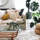 Artful interior style showcasing eclectic Bohemian display with ethnic rugs as decoration Image 3