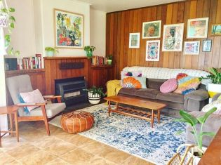 Beautiful Bohemian living style displaying artsy rug designs with exotic pattern Image 29