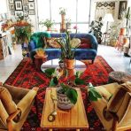 Beautiful Bohemian living style displaying artsy rug designs with exotic pattern Image 38