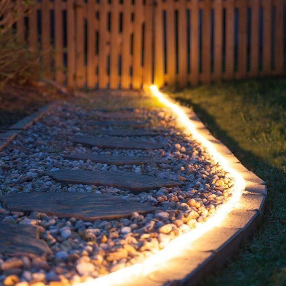 Beautiful garden lighting ideas with ground level ambient light giving luxurious resorts look Image 20