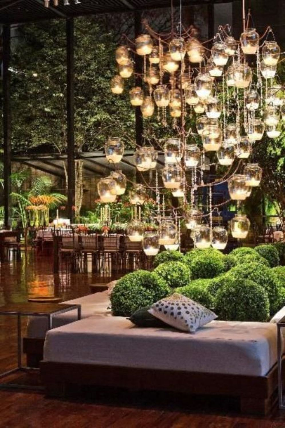 Beautiful garden lighting ideas with ground level ambient light giving luxurious resorts look Image 25