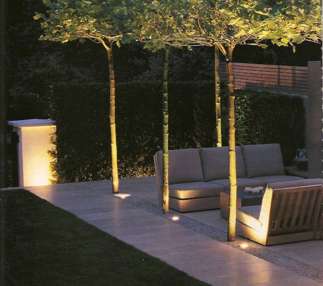 Beautiful garden lighting ideas with ground level ambient light giving luxurious resorts look Image 28