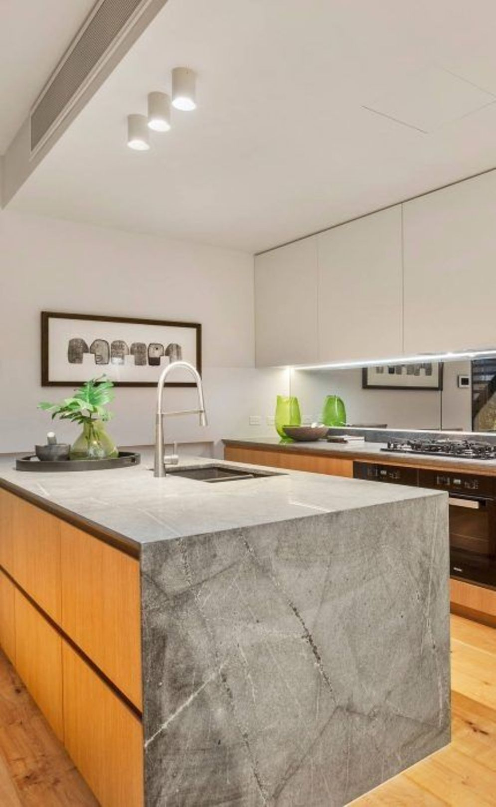 Classy kitchen styles in bold display maximizing concrete benchtop designs Image 10