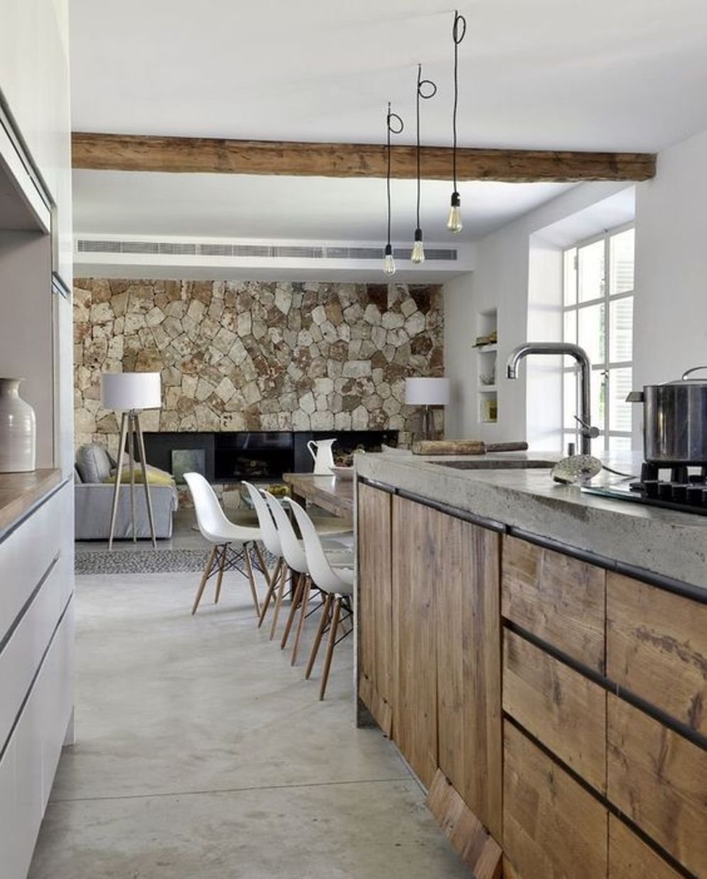 Classy kitchen styles in bold display maximizing concrete benchtop designs Image 18