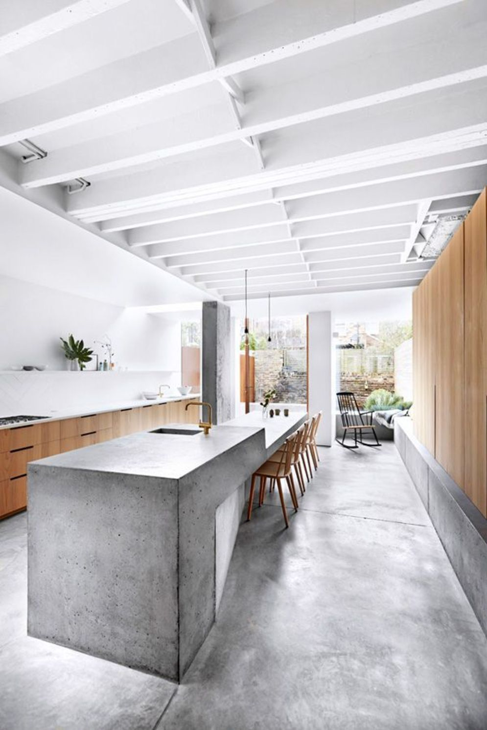 Classy kitchen styles in bold display maximizing concrete benchtop designs Image 19