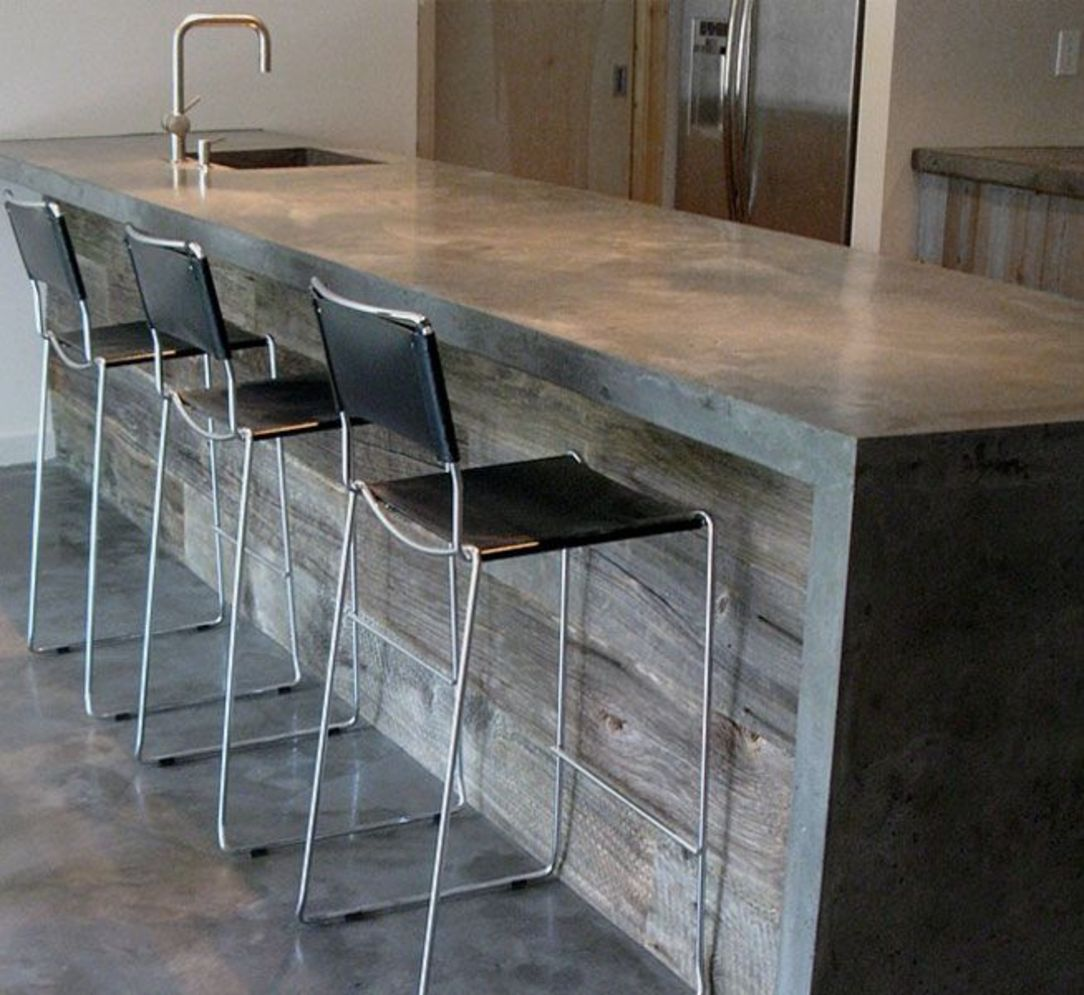 Classy kitchen styles in bold display maximizing concrete benchtop designs Image 3