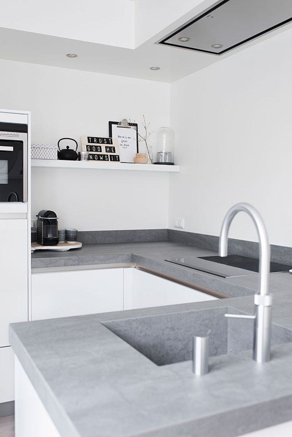 Classy kitchen styles in bold display maximizing concrete benchtop designs Image 7