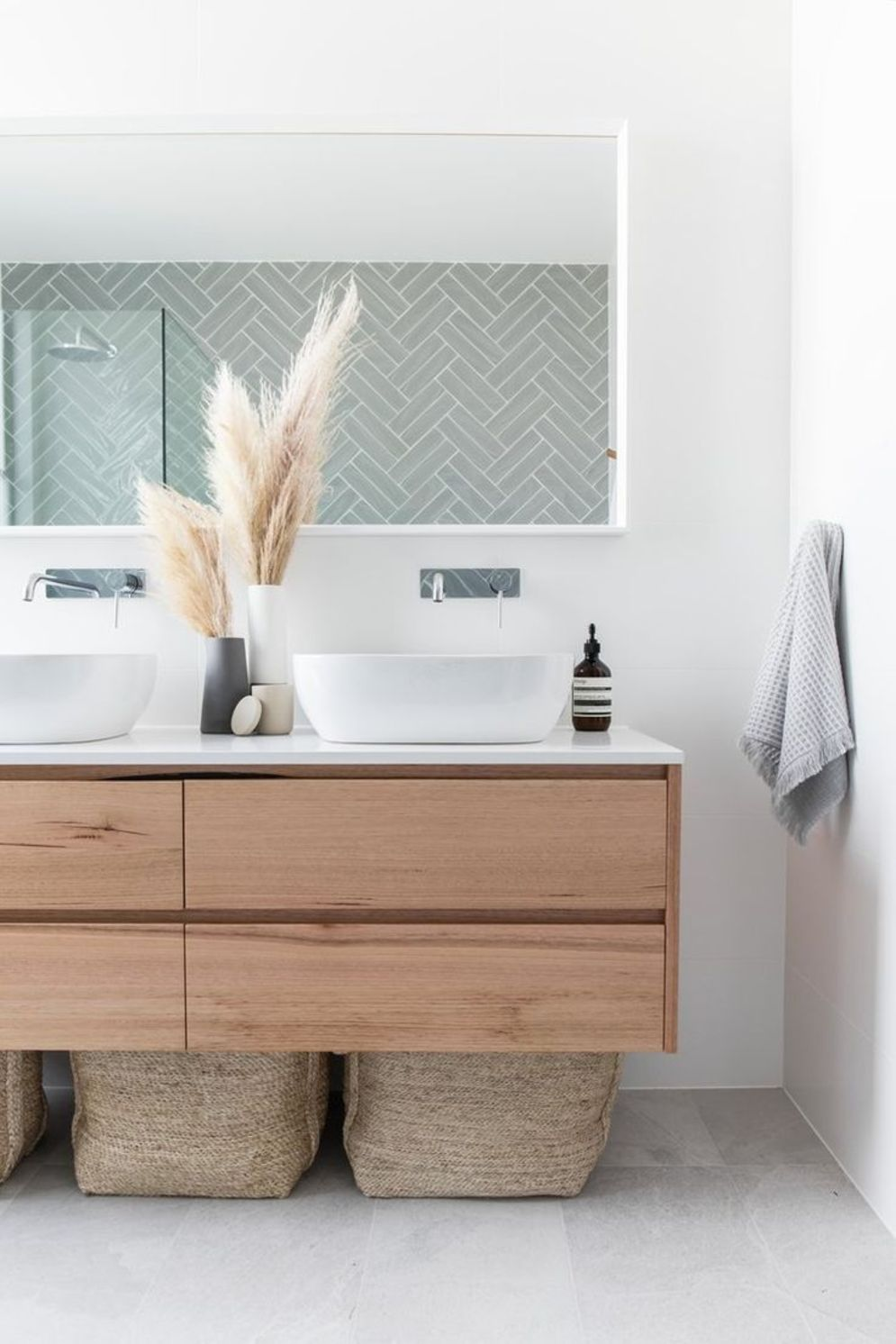 Most savvy bathroom designs with elegant wood finish to give more natural feel Image 11